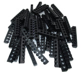 LEGO Black Technic Brick 1x8 with Holes Lot of 50 Parts Pieces 3002
