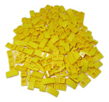 LEGO Yellow Slope Curved 2x1 No Studs Lot of 100 Parts Pieces 11477