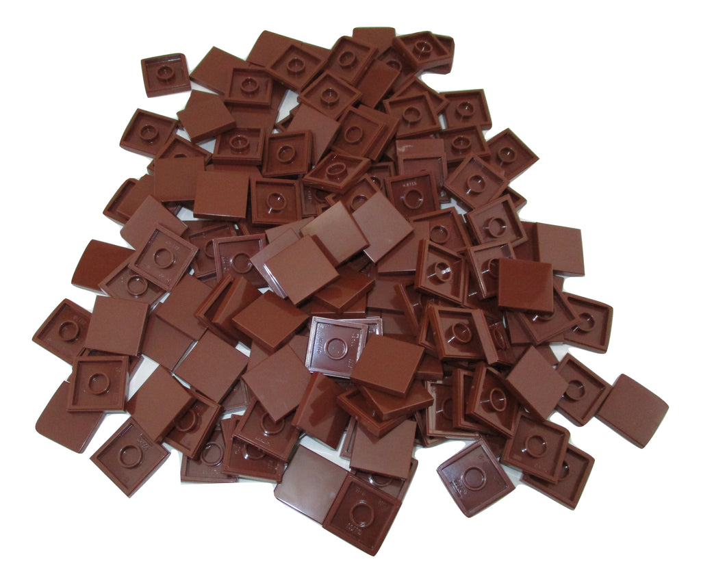 LEGO Reddish Brown Tile Round 2x2 Lot of 100 Parts Pieces 14769