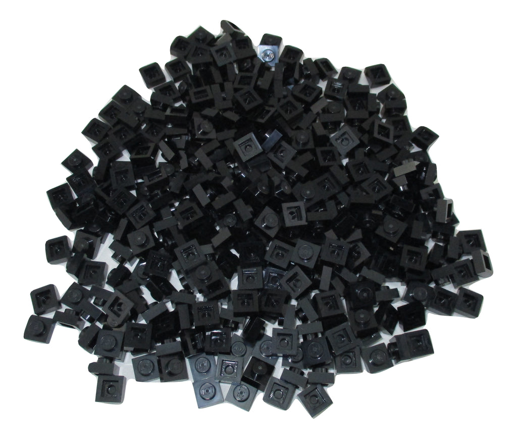 LEGO Black Plate 1x1 Lot of 100 Parts Pieces 3024