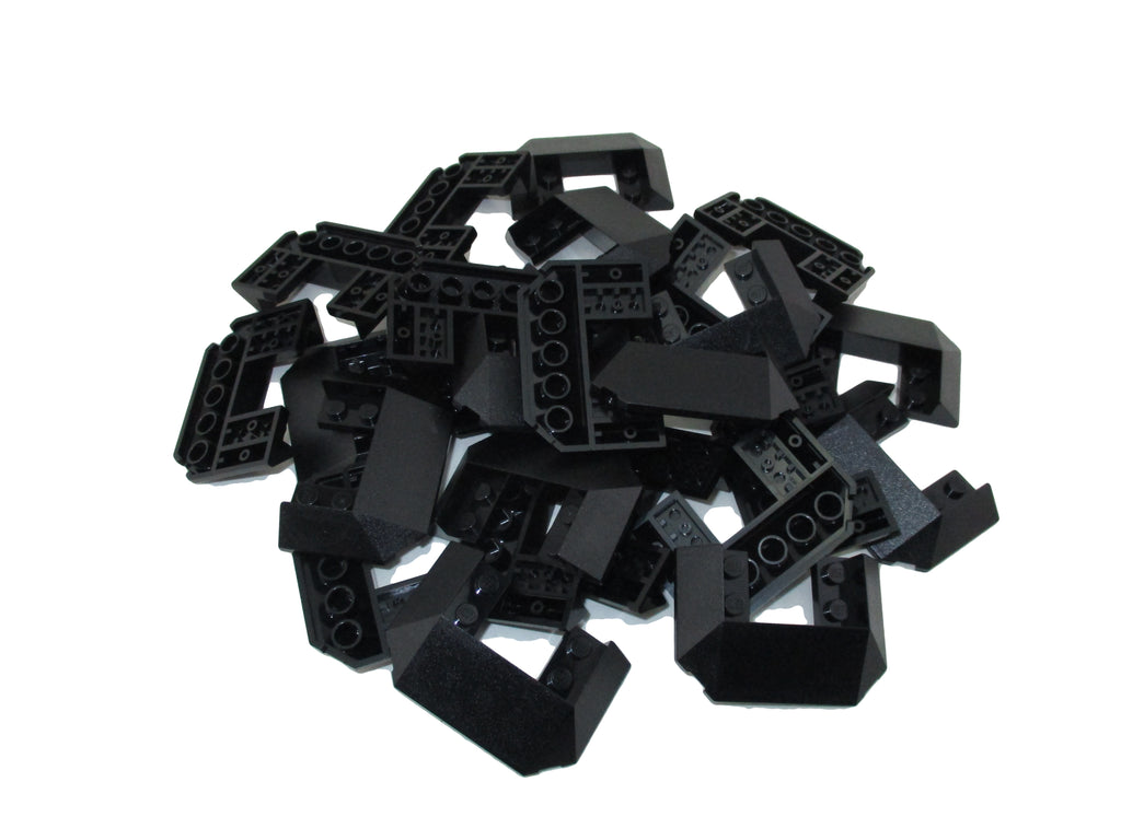 LEGO Black Slope 45 6x4 Double / 33 Train Roof Lot of 25 Parts Pieces 13269