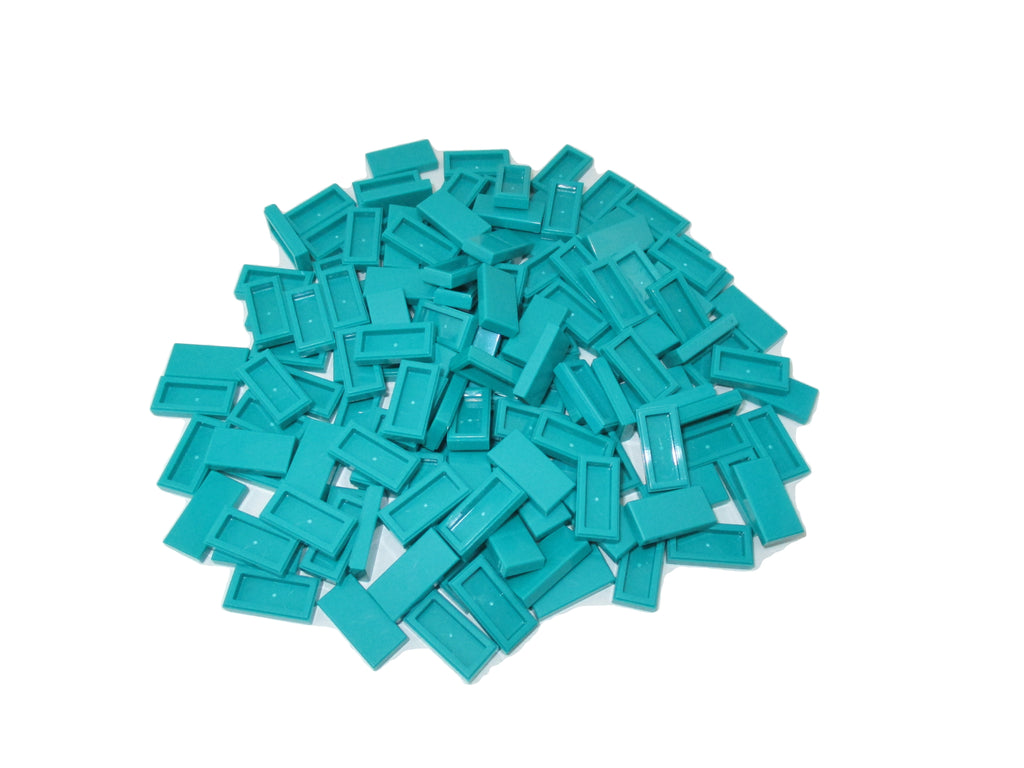 Lego 4 New Light Aqua Tiles 2 x 2 Simpsons Homer/'s Head X-Ray Pattern Pieces