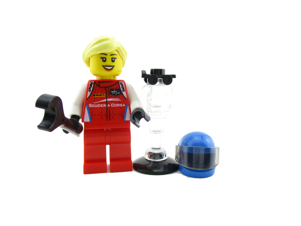 LEGO Speed Champions City Ferrari 488 GT3 Scuderia Corsa Race Car Driver Minifigure 75886 Mini Fig