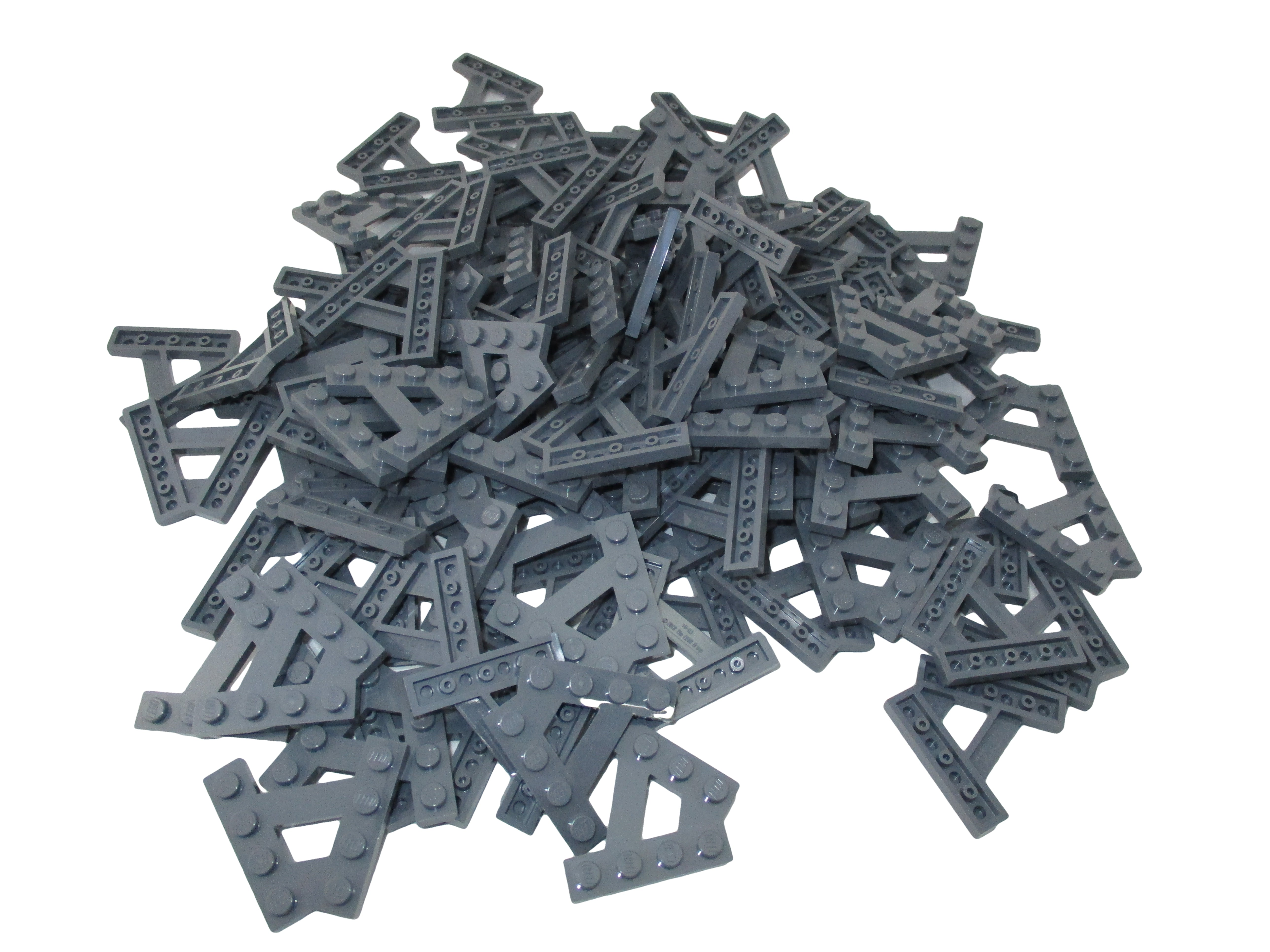 LEGO Dark Bluish Gray Wedge Plate A-Shape 2 Rows of 4 Studs Lot of 100 Parts Pieces 15706