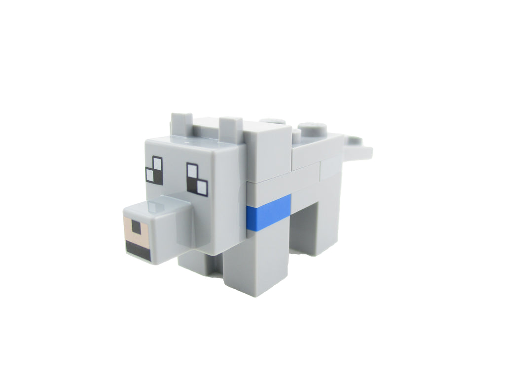 LEGO Minecraft Tamed Wolf Minifigure 21140 Mini Fig Animal