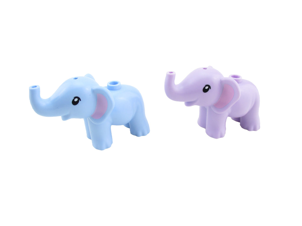 LEGO Friends Lot of 2 Baby Elephant Minifigure Mini Fig Animal