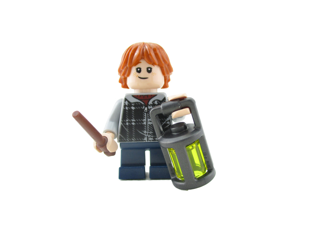 LEGO Harry Potter Ron Weasley Minifigure 75955 Mini Fig Wand Lantern