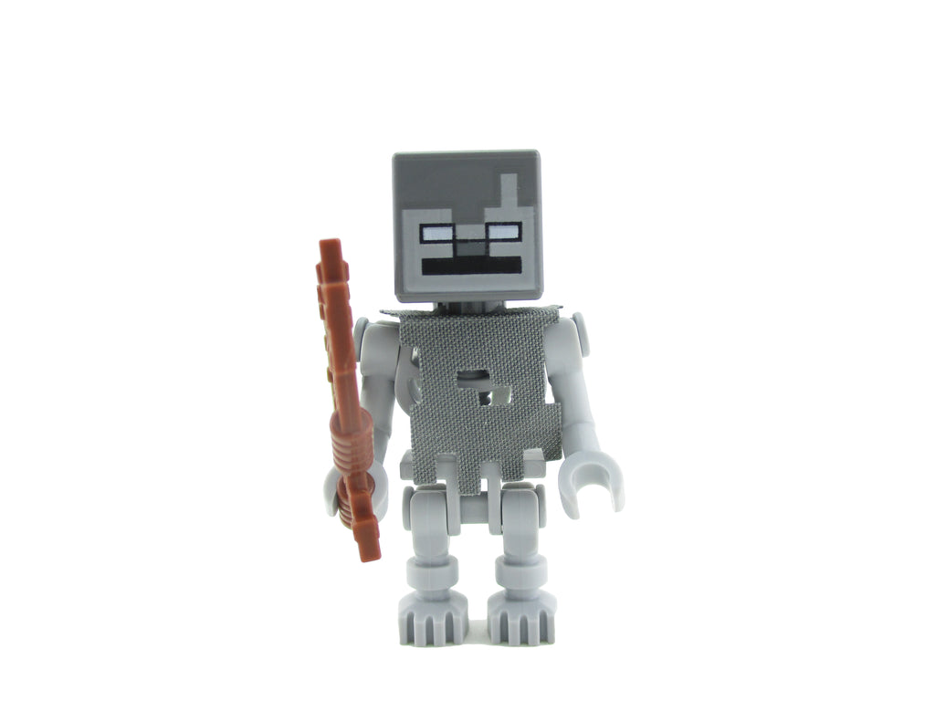 LEGO Minecraft Skeleton Stray Minifigure 21142 Mini Fig Bow Arrow