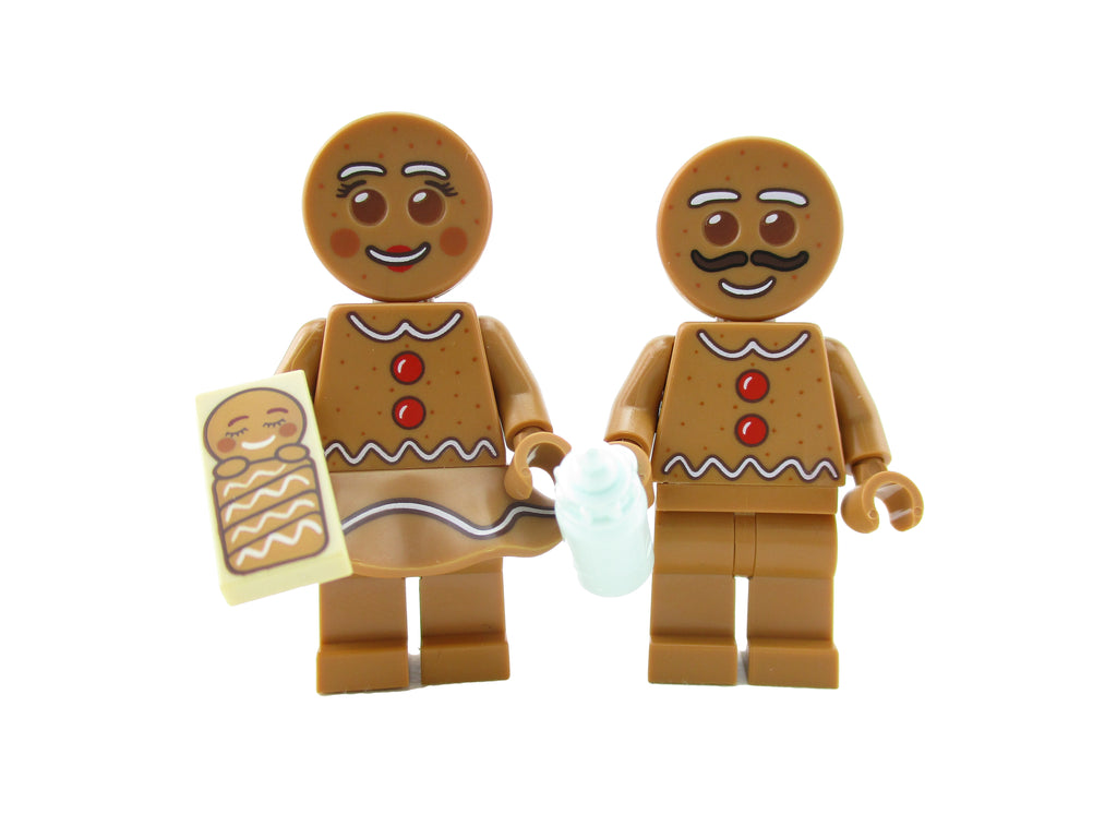 LEGO Gingerbread Man Woman Baby Minifigure 10267 Mini Fig Family