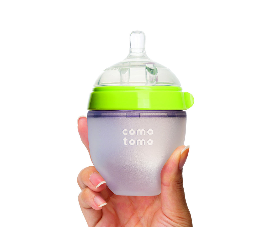 COMOTOMO  Baby Bottle, Green, 5 Ounce - YYZ Distribution