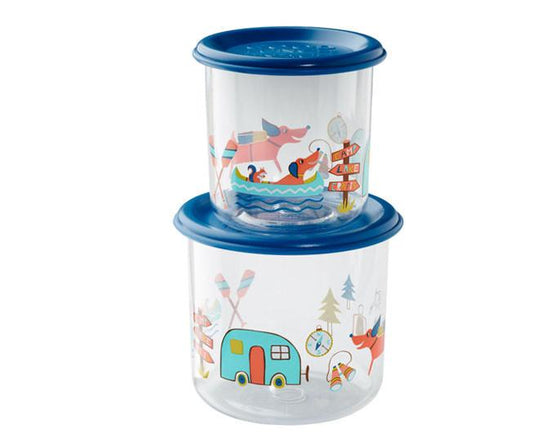 Happy Camper Good Lunch® Snack Containers Set-of-Two - YYZ Distribution