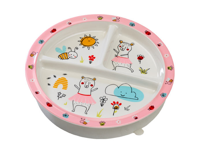 Clementine The Bear Divided Suction Plate - YYZ Distribution