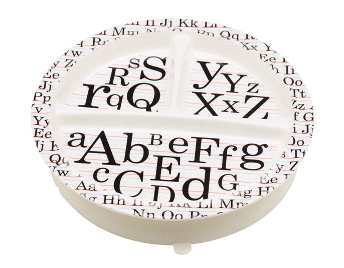 Vintage Alphabet Divided Suction Plate - YYZ Distribution