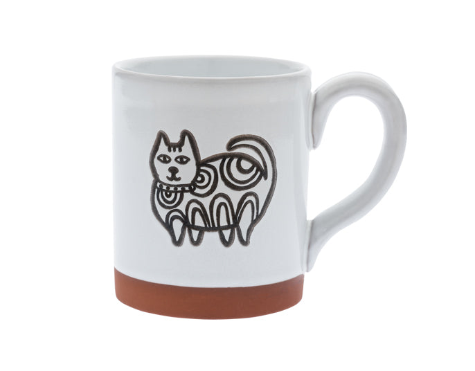 Cuppa Color™ Mug Henna Cat in White - YYZ Distribution
