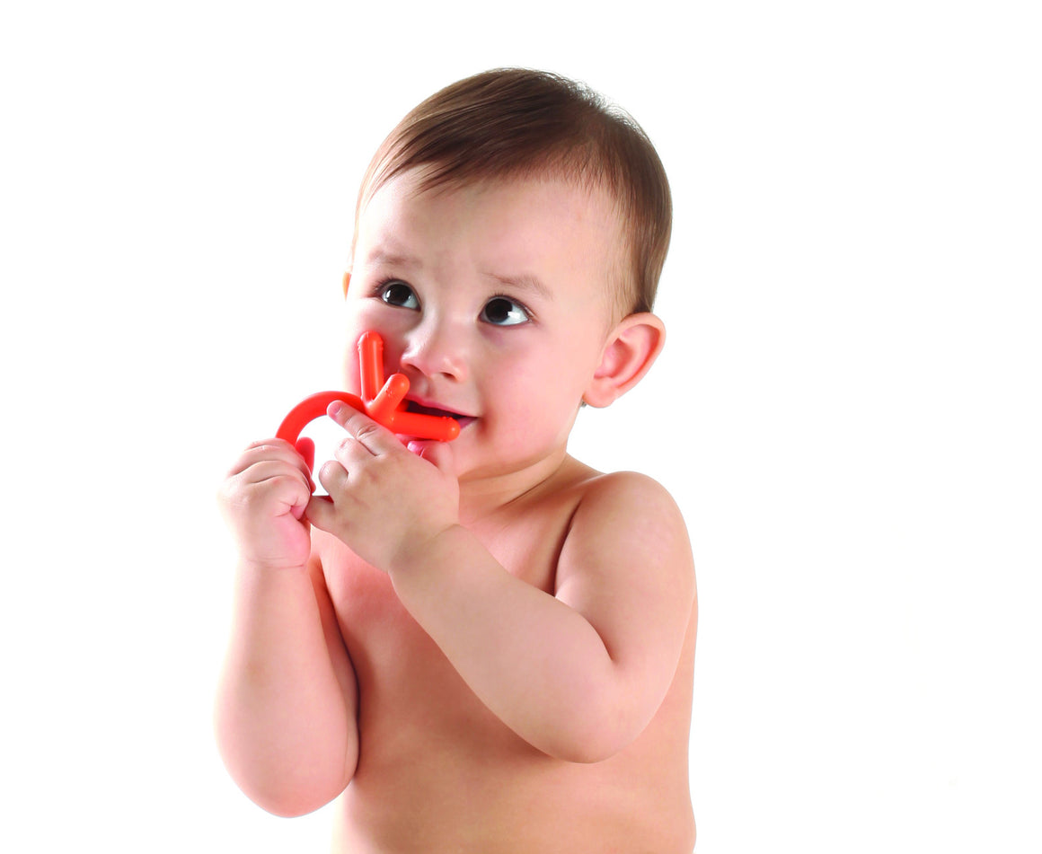 Comotomo Silicone Baby Teethers (Orange) - YYZ Distribution