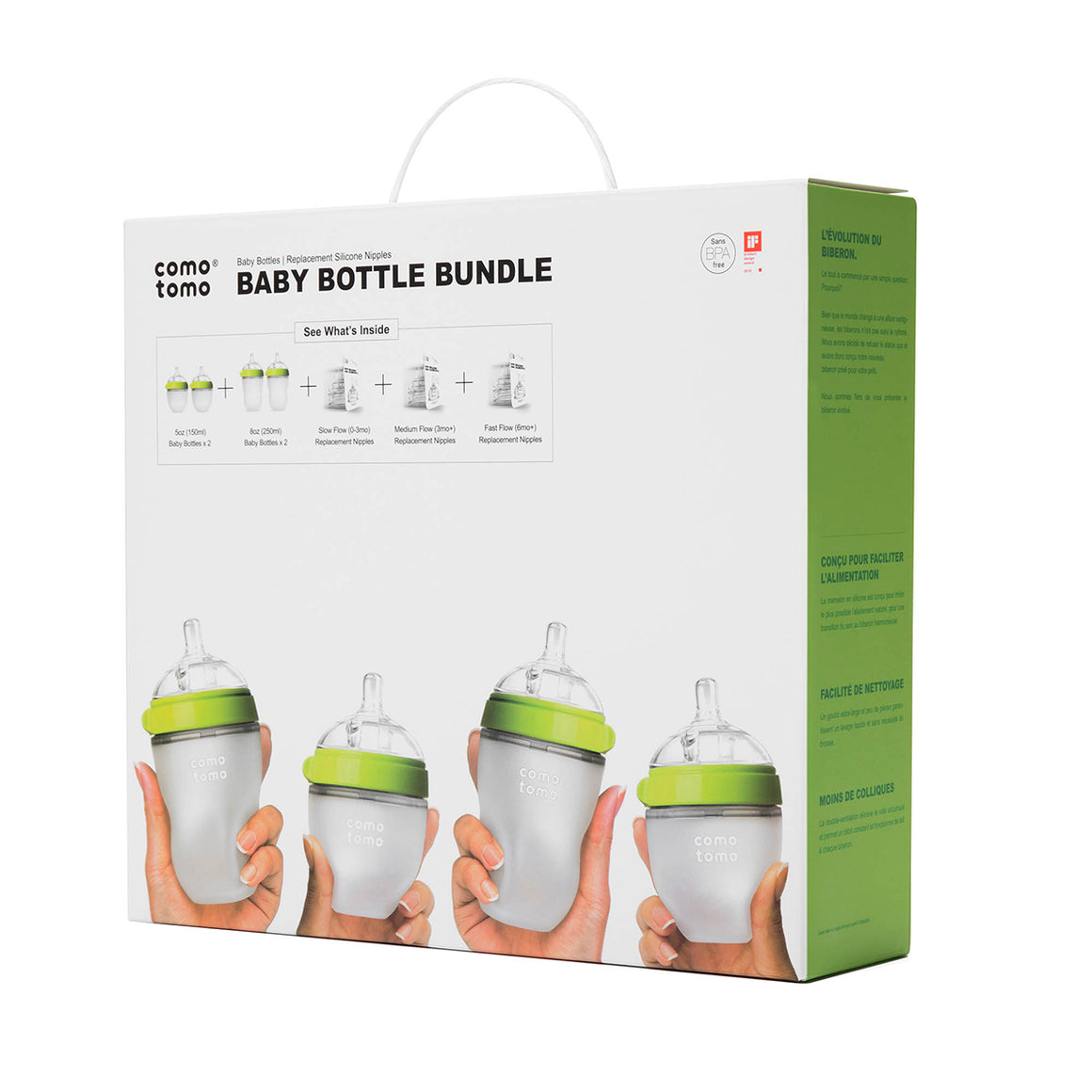 COMOTOMO  Baby Bottle Bundle - Green