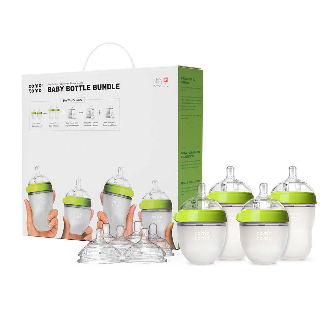 COMOTOMO  Baby Bottle Bundle - Green - YYZ Distribution