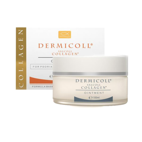 Salcoll Collagen Steroids Free, Dermicoll Marine Collagen to Aid Psoriasis Eczema Treatment, 100ml - Salcoll Collagen