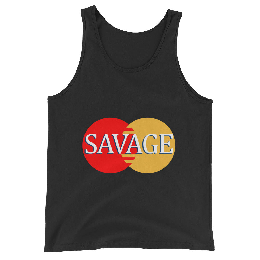 Awesome Master Savage Card Cool Funny Unisex  Tank Top - Awkward Television