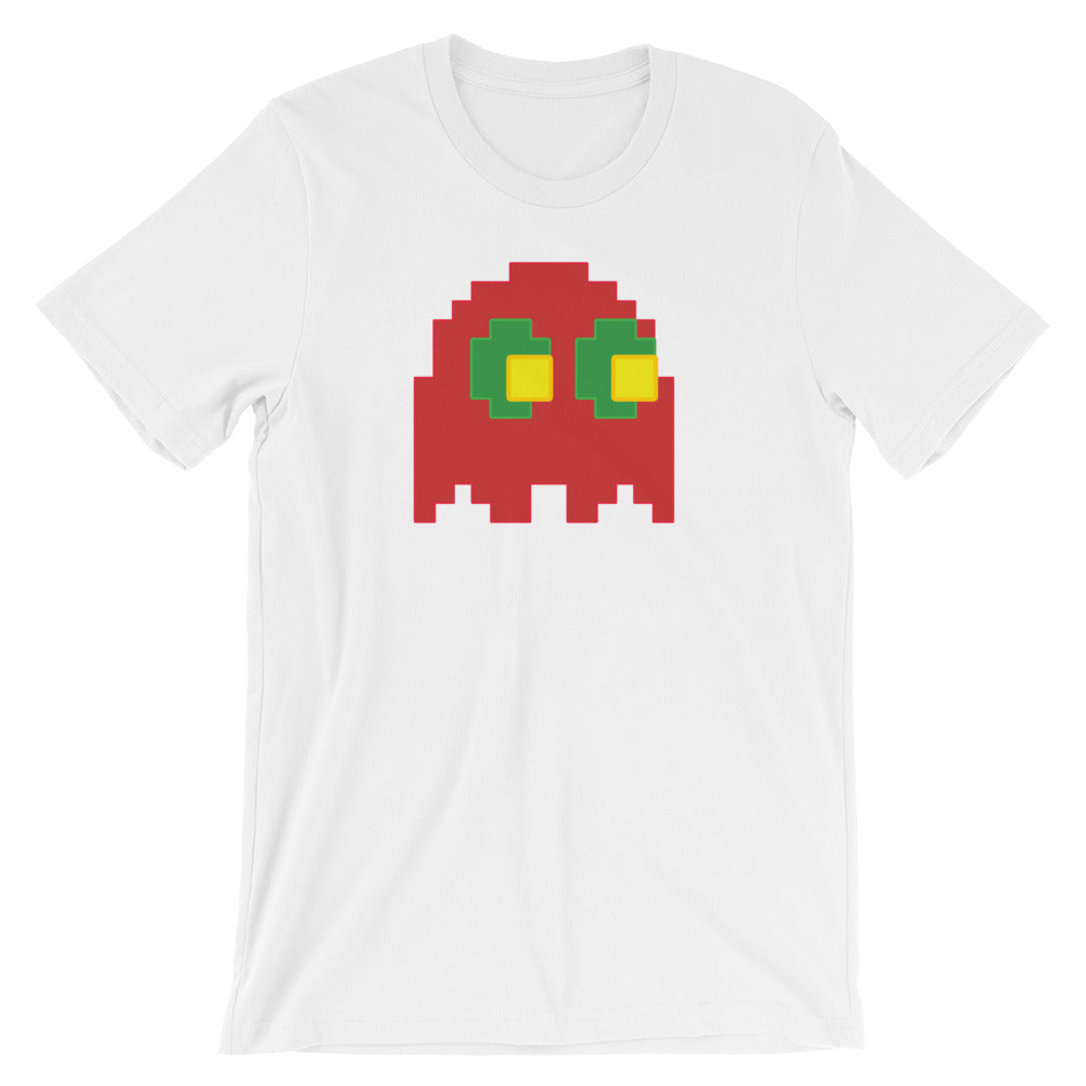 Retro 8-Bit Gucci Pacman Ghost Art Fashion Style Short-Sleeve Unisex T-Shirt - Awkward Television