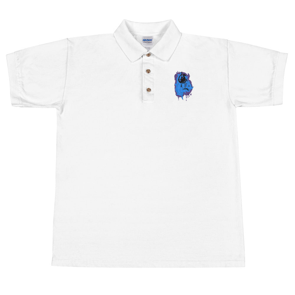 New Fresh Raptor Shark Embroidered Polo Shirt Much Swag - Awkward Television