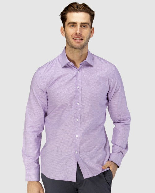 Brooksfield Luxe Three Tone Dobby Weave Business Shirt 1599