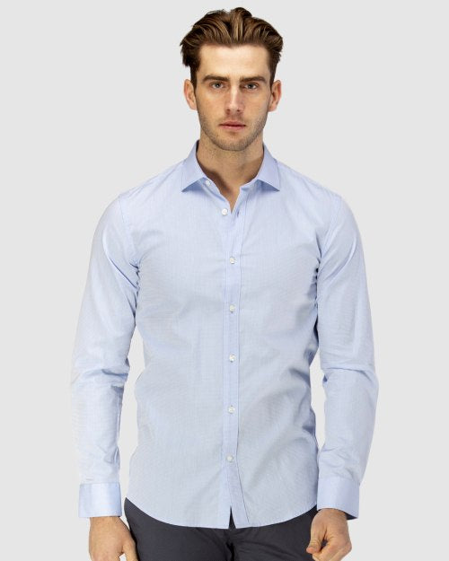 Brooksfield Career Diamond Weave Business Shirt 1581