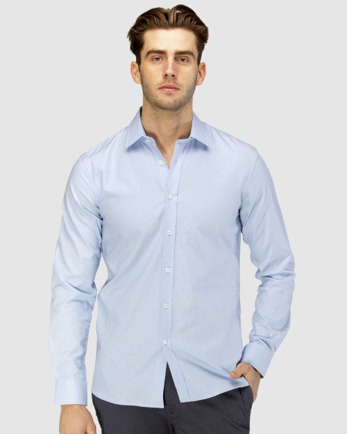 Brooksfield Luxe Two-Tone Textured Dobby Business Shirt 1597
