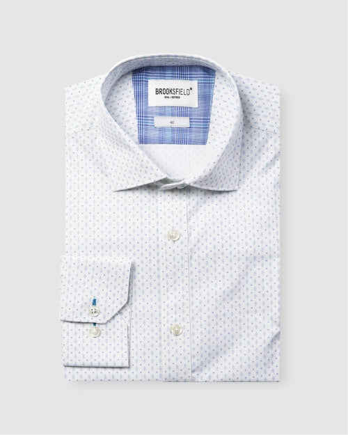 Brooksfield Career Abstract Dot Print Business Shirt 1587