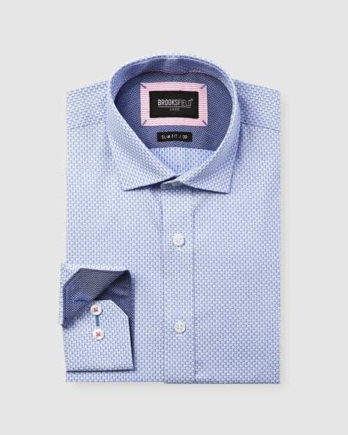 Brooksfield Micro Square Dobby Business Shirt 1600