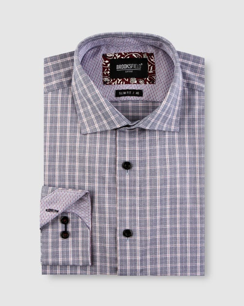Luxe Modern Check Shirt