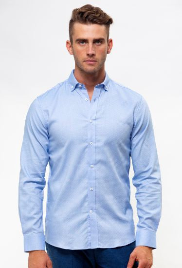 Luxe Tonal Dot Business Shirt