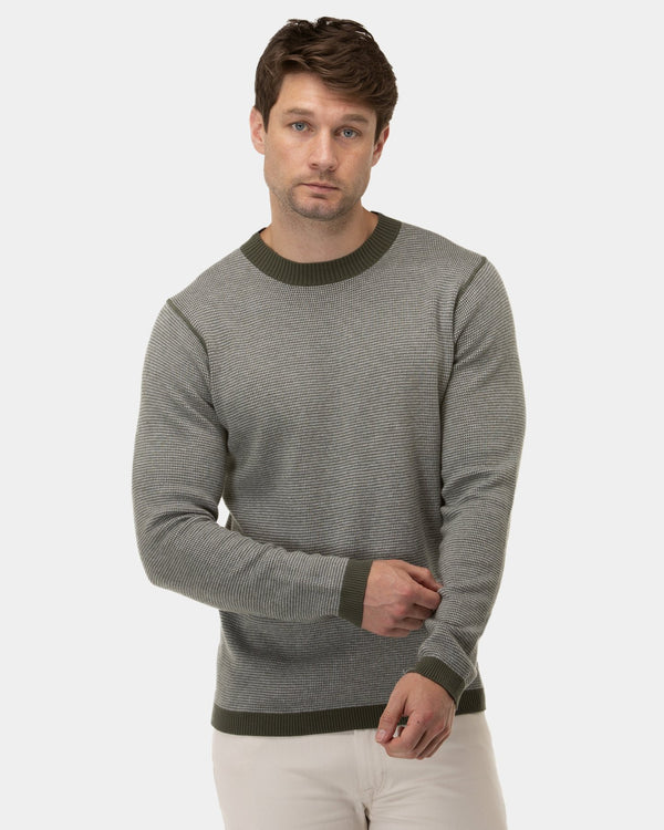 Brooksfield Two Tone Crew Neck Sweater