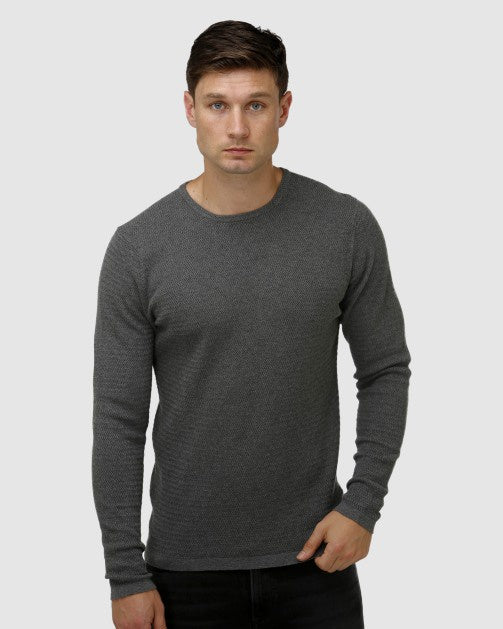 Textured Core Crew Neck Sweater