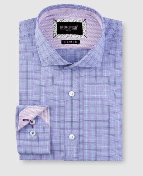 End On End Check Business Shirt