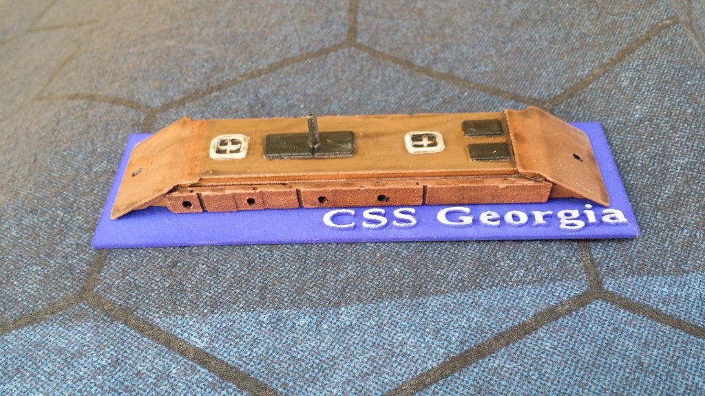 CSS Georgia (Price for PAINTED Model - Unpainted Available on Shapeways)
