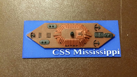 CSS Mississippi (Price for PAINTED Model - Unpainted Available on Shapeways)