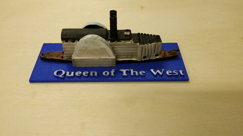 USS/CSS Queen of the West (Price for PAINTED Model - Unpainted Available on Shapeways)