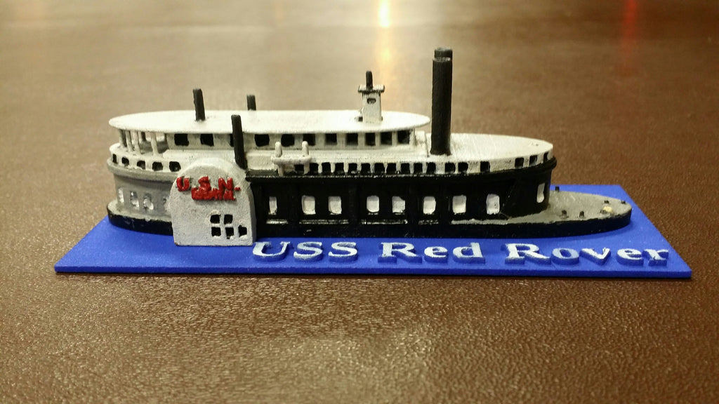 USS Red Rover (Price for PAINTED Model - Unpainted Available on Shapeways)