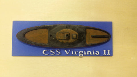 CSS Virginia II (Price for PAINTED Model - Unpainted Available on Shapeways)