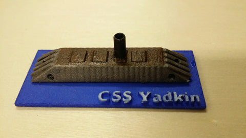 CSS Yadkin (Price for PAINTED Model - Unpainted Available on Shapeways)