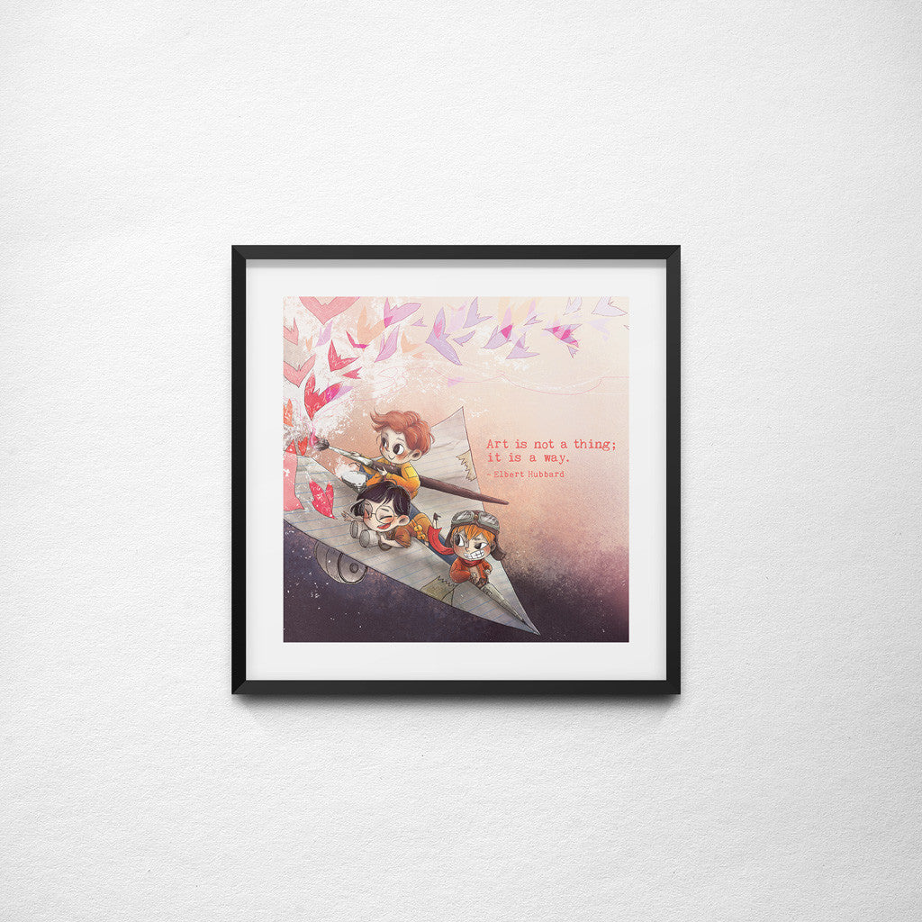 """Art is Not a Thing"" Elbert Hubbard x Joey Ng - 297mm x 297mm Giclée Print"