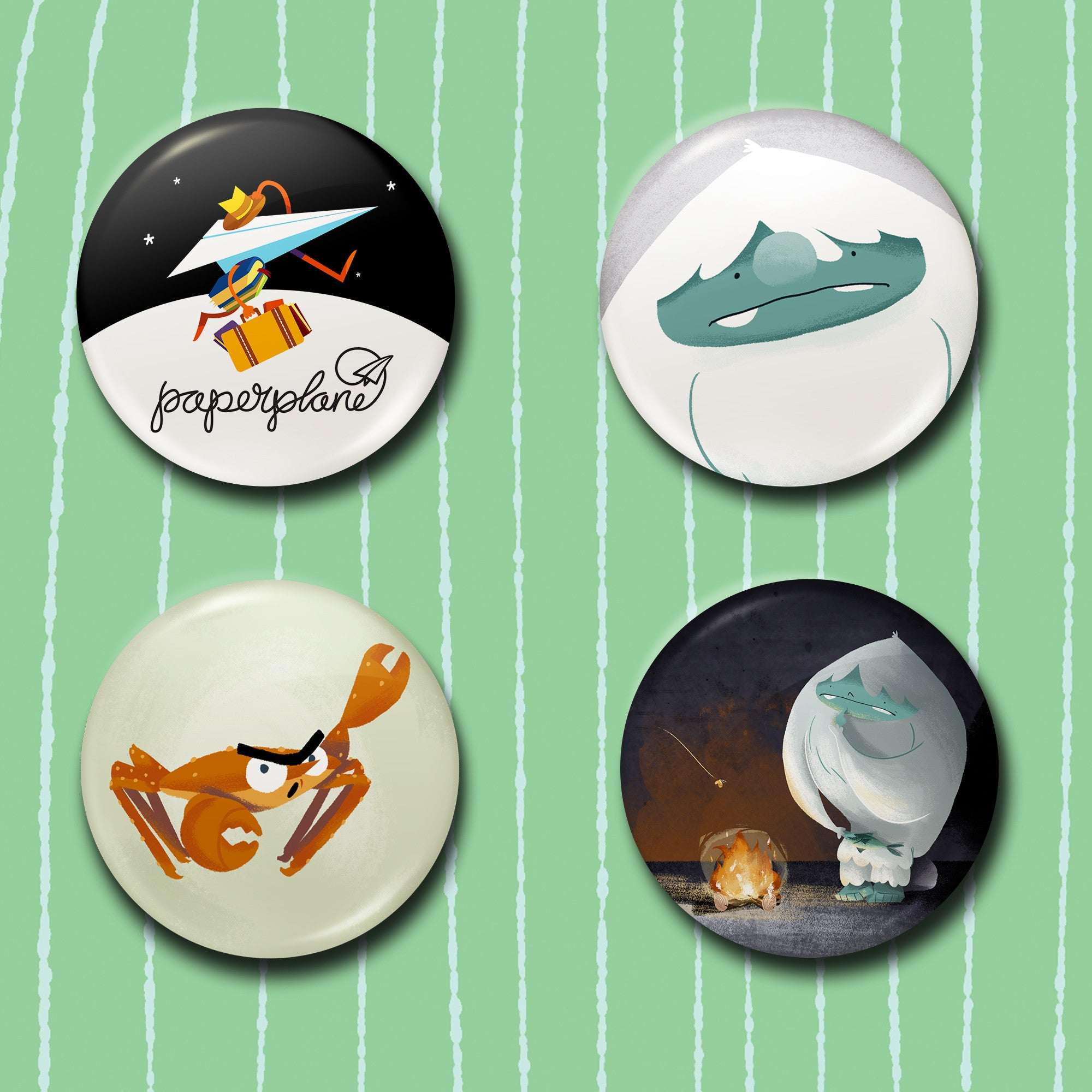 The Abominable Norman - Character Button Badges