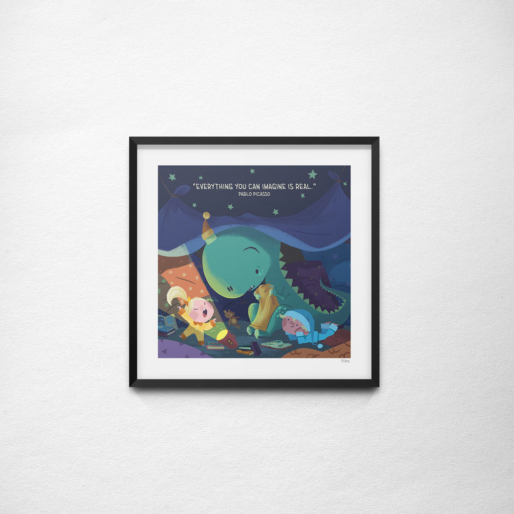 """Everything You Can Imagine Is Real"" Picasso x Teressa Ong - 297mm x 297mm Giclée Print"