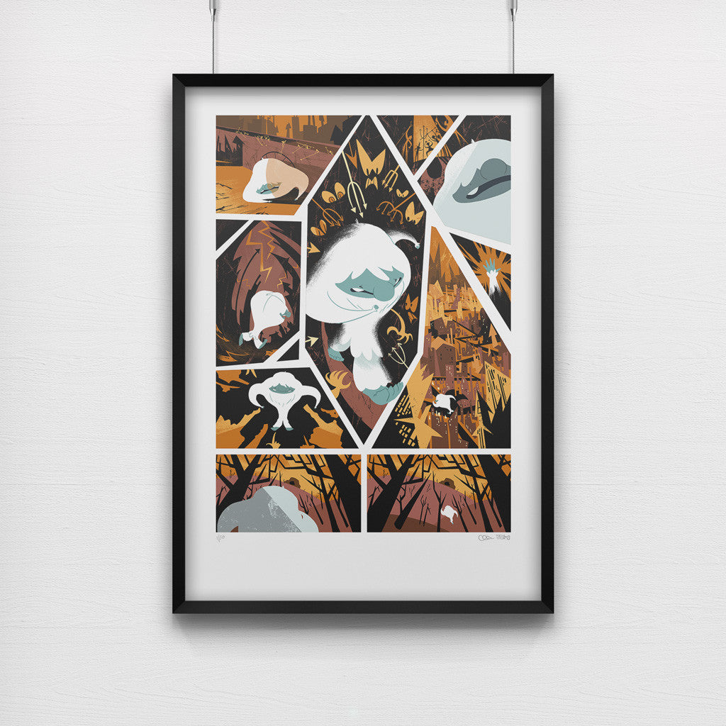 """Adventure is a Dangerous Business"" from The Abominable Norman - A3 Giclée Print"