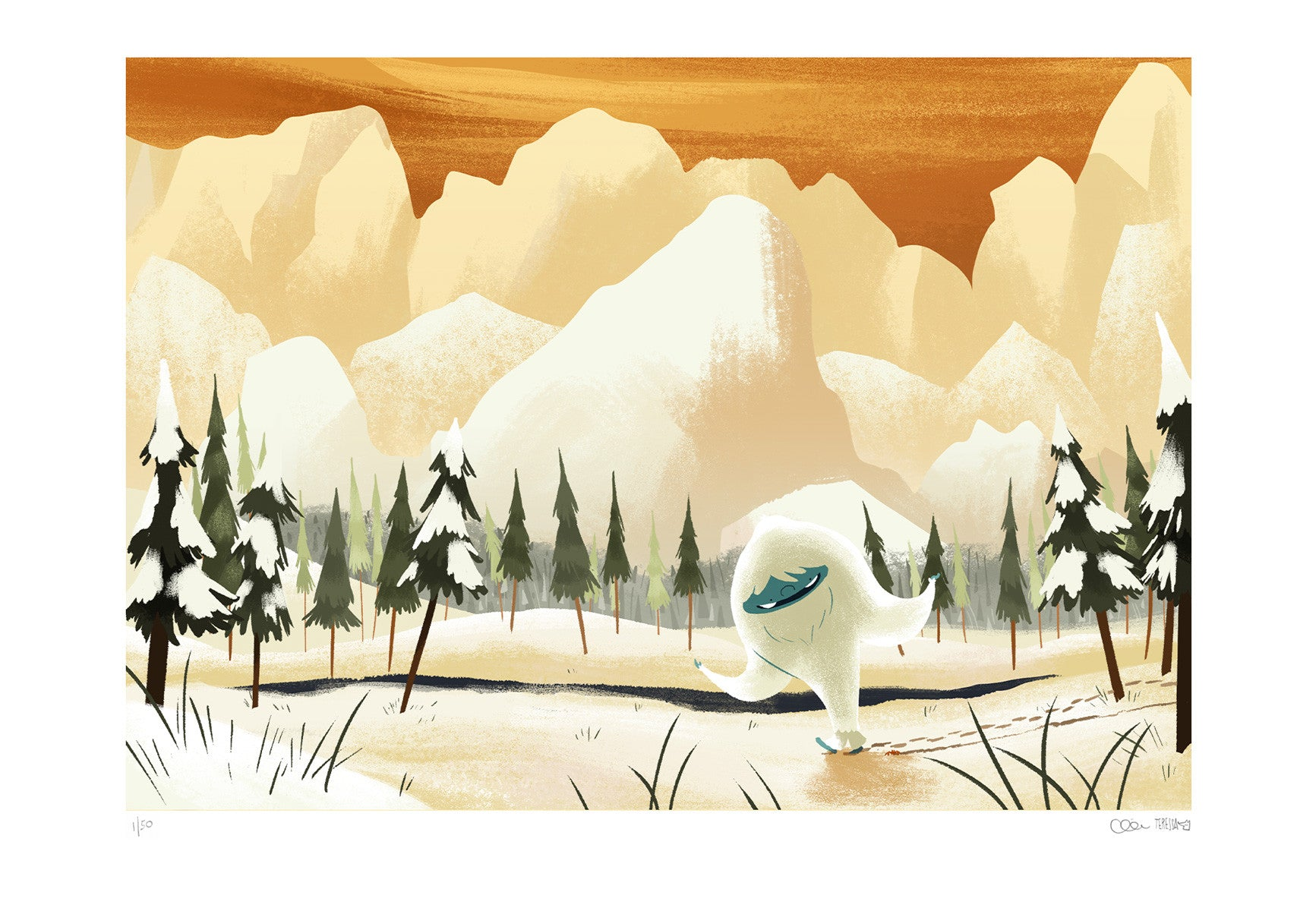 """Homeward Bound"" from The Abominable Norman - A3 Giclée Print"
