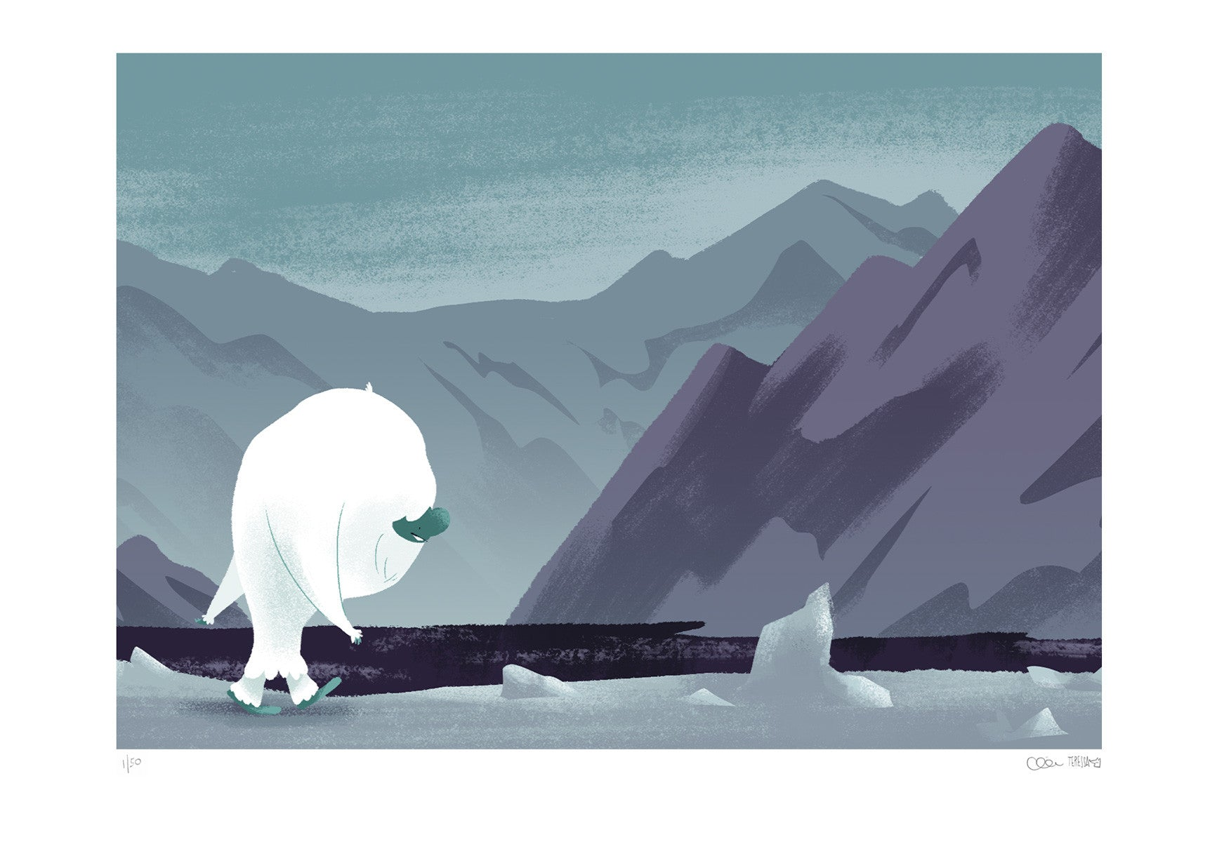 """On The Way"" from The Abominable Norman - A3 Giclée Print"