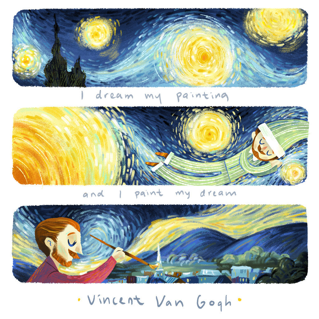 """Paint My Dream"" Van Gogh x Teressa Ong - 297mm x 297mm Giclée Print"