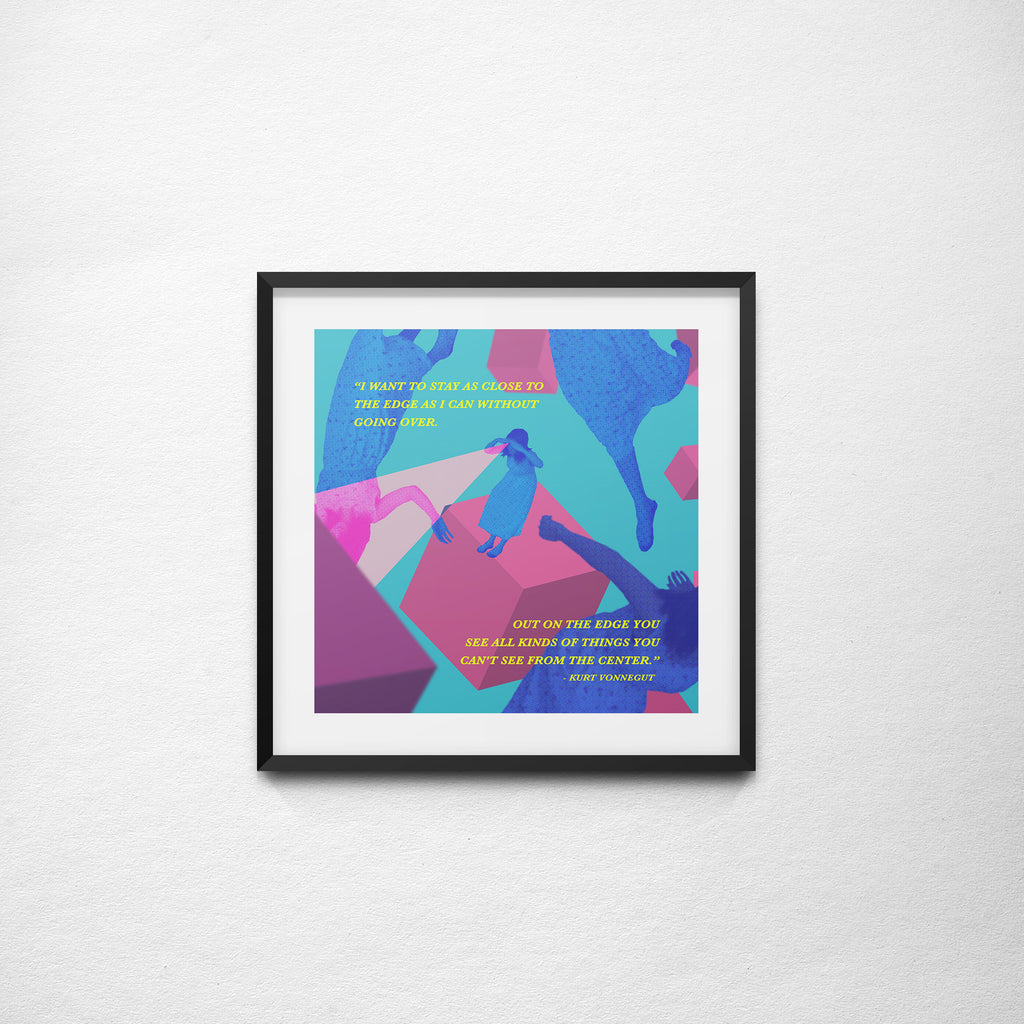 """Out On The Edge"" Vonnegut x Ong - 297mm x 297mm Giclée Print"