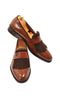 Handmade Wooden Brown Loafer Men Shoes